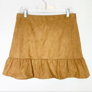 J Crew Brown Suede Look Mini Skirt Holiday 18 6